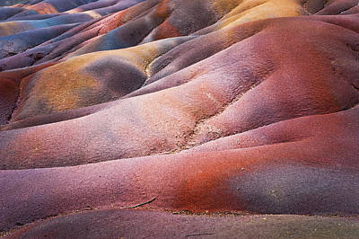 Photograph - Seven Colored Earth In Chamarel 1. Series Earth Bodyscapes. Mauritius by Jenny Rainbow