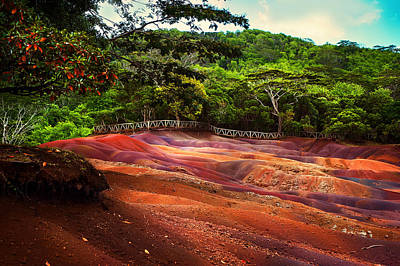 Photograph - Seven Colored Earth In Chamarel 3. Mauritius by Jenny Rainbow