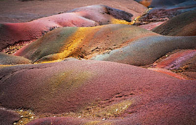 Photograph - Seven Colored Earth In Chamarel 3.series Earth Bodyscapes. Mauritius by Jenny Rainbow