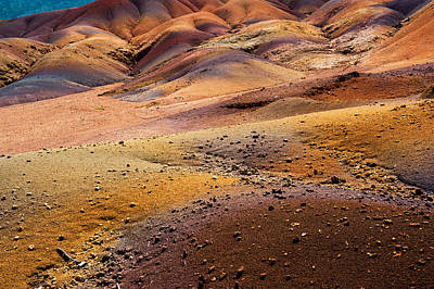 Photograph - Seven Colored Earth In Chamarel 6. Series Earth Bodyscapes. Mauritius by Jenny Rainbow