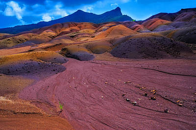 Photograph - Seven Colored Earth In Chamarel II. Mauritius by Jenny Rainbow