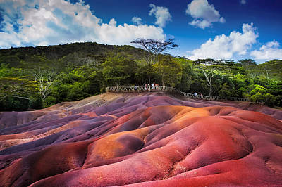 Photograph - Seven Colored Earth In Chamarel. Mauritius by Jenny Rainbow