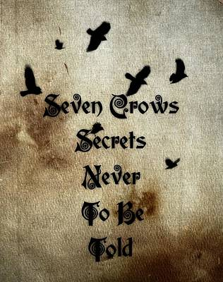 Seven Crows Art Print by Gothicrow Images