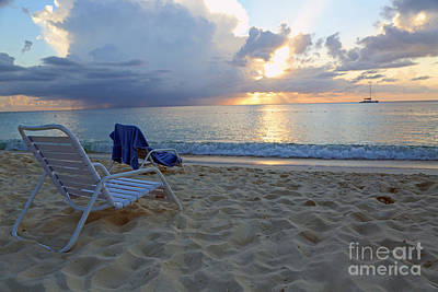 Sunset On Seven Mile Beach Art Print