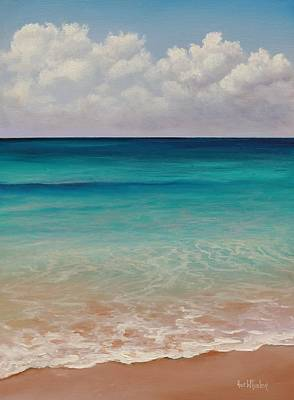 Seascape Oil Painting - Seven Mile Beach by Eve  Wheeler