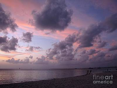 Photograph - Seven Mile Beach Sunset by Peggy Hughes