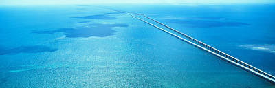 Span Photograph - Seven Miles Bridge Florida Keys Fl Usa by Panoramic Images