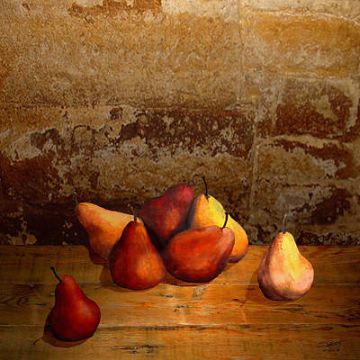 Painting - Seven Pears by IM Spadecaller