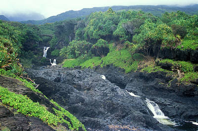 Photograph - Seven Sacred Pools Haleakala National Park Maui Hawaii by John Burk