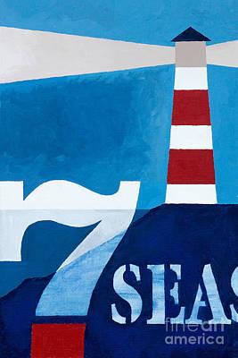 Painting - Seven Seas by Lutz Baar