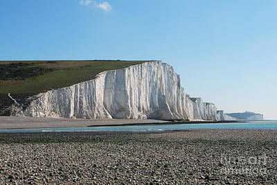 Photograph - Seven Sisters Chalk Cliffs by Scott D Welch