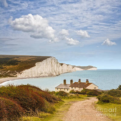 Seven Sisters Cuckmere Haven South Downs Sussex Art Print by Colin and Linda McKie