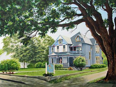 Painting - Seven Sisters Inn Ocala Florida by Richard Devine