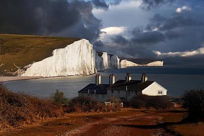 Coastguard Cottages Photograph - Seven Sisters by Kris Dutson