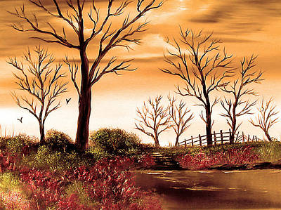 Cynthia-adams-uk Painting - Seven Sisters The Golden Hour. by Cynthia Adams