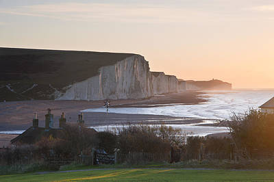 Coastguard Cottages Photograph - Seven Sisters Winter Sunrise by Matthew Gibson