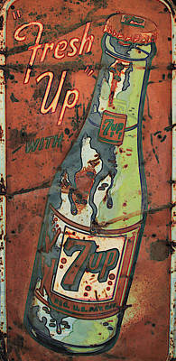 Seven-up Sign Photograph - Seven Up by Douglas Settle