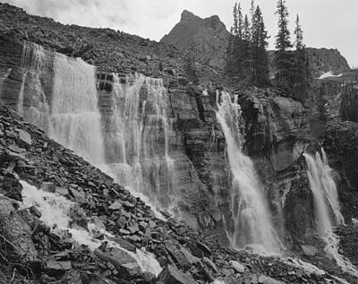 Photograph - 203519-bw-seven Veils Falls by Ed  Cooper Photography