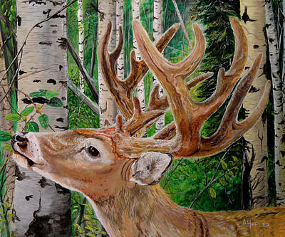 One Horned Painting - Seventeen-velvet by Alvin Hepler