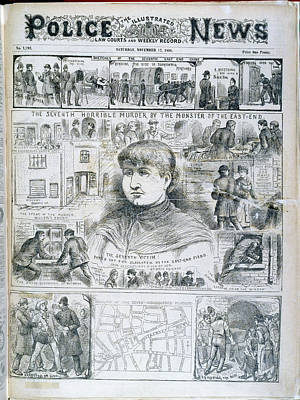 Seventh Ripper Murder Art Print by British Library
