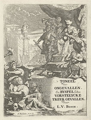Deadly Drawing - Severed Heads For A Prince On A Throne, Arnold Houbraken by Arnold Houbraken