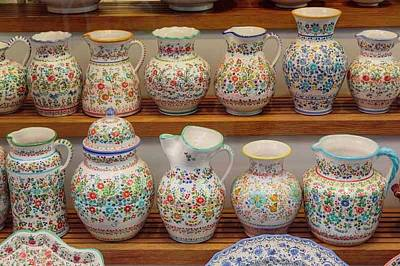 Southern Pottery Photograph - Seville, Spain. Pottery For Sale by Ken Welsh