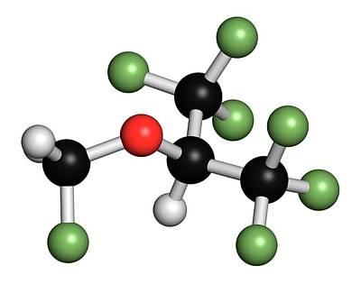 Sevoflurane Anesthetic Molecule Art Print by Molekuul