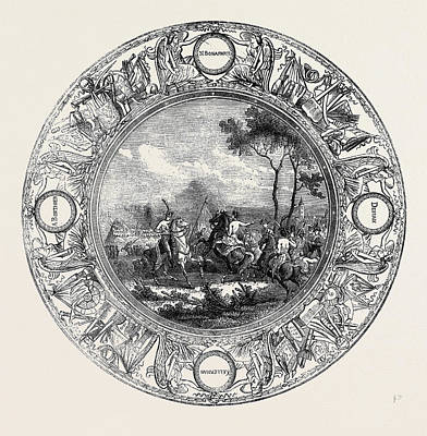 Painted Image Drawing - Sevres Plate, Painted With A Scene From The Battle by English School