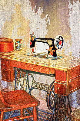 Photograph - Sew History In The Making by Judy Hall-Folde