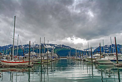 Seward Harbour Alaska Art Print