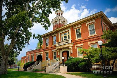 Sewickley Photograph - Sewickley Pennsylvania Municipal Hall by Amy Cicconi
