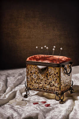 Casket Photograph - Sewing Box  by Amanda Elwell