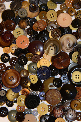 Sewing - Buttons And More Buttons Art Print by Paul Ward