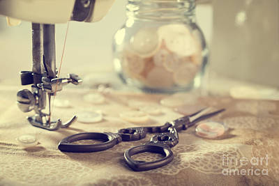 Photograph - Sewing Items by Amanda Elwell