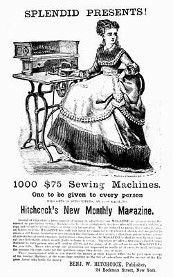 Sewing Machine Painting - Sewing Machine, 1866 by Granger