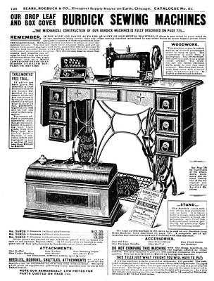 Sewing Machine Painting - Sewing Machine Ad by Granger