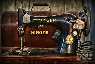 Bobbins Photograph - Sewing Machine By Singer by Paul Ward