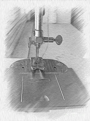 Photograph - Sewing Machine by Claudia Ellis