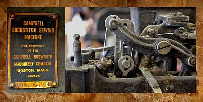 Montana Digital Art - Sewing Machine For Leather by Kae Cheatham