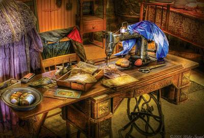 Photograph - Sewing Machine  - Sewing Machine Iv by Mike Savad
