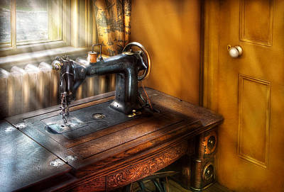 Sewing Machine  - The Sewing Machine  Art Print by Mike Savad