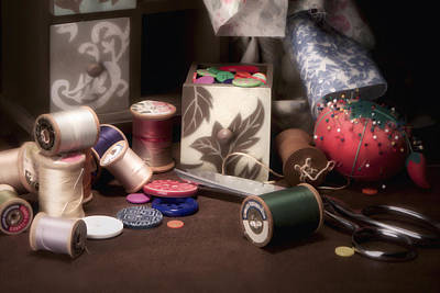 Bobbins Photograph - Sewing Notions II by Tom Mc Nemar