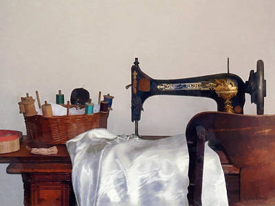Tailor Photograph - Sewing Room by Susan Savad