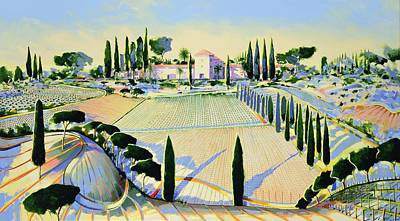 Tuscan Dusk Painting - Sewing The Seed Of Love by Andrew Hewkin
