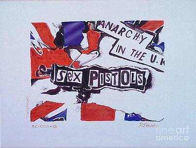 Johnny Rotten Painting - Sex Pistols - Anarchy In The Uk by Richard John Holden RA