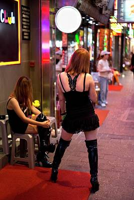 Prostitution Photograph - Sex Workers In Hong Kong by Tony Camacho