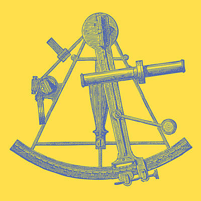 Drawing - Sextant Yellow by Ticky Kennedy LLC