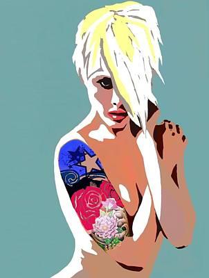 Tattoo Digital Art - Sexy Blond by Cindy Edwards