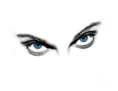 Sexy Blue Eyes  Art Print by Jt PhotoDesign