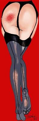 Sexy Bum Pop Art Print by Stewart Robinson